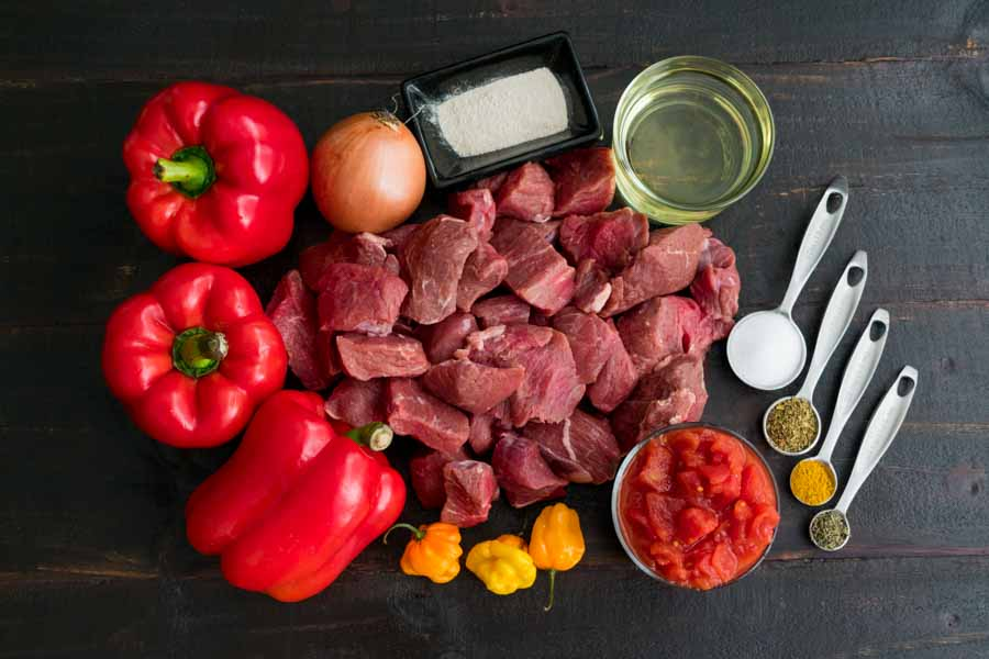 Nigerian Beef Stew (African Stew) Ingredients