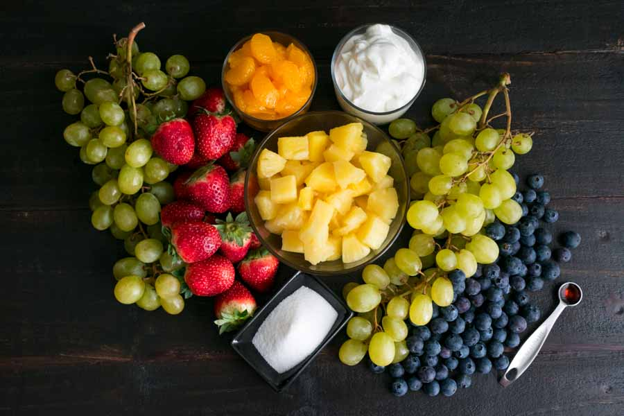 Skinny Ambrosia Salad Ingredients