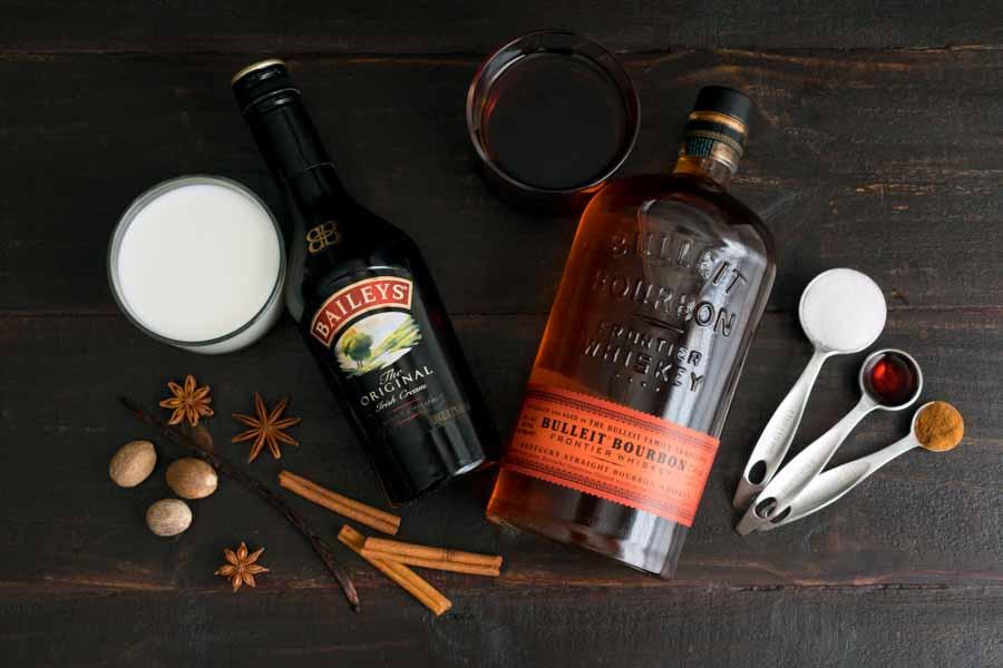 Warm Spiced Vanilla Cocktail Ingredients