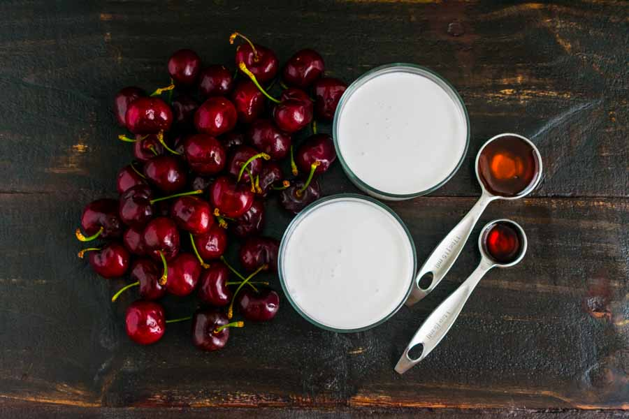 Grilled Cherry Milkshakes Ingredients