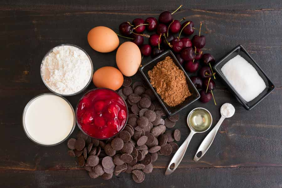Black Forest Cupcakes Ingredients