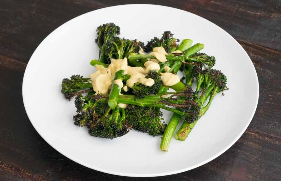 Broccolini with Lemon Tahini Dressing