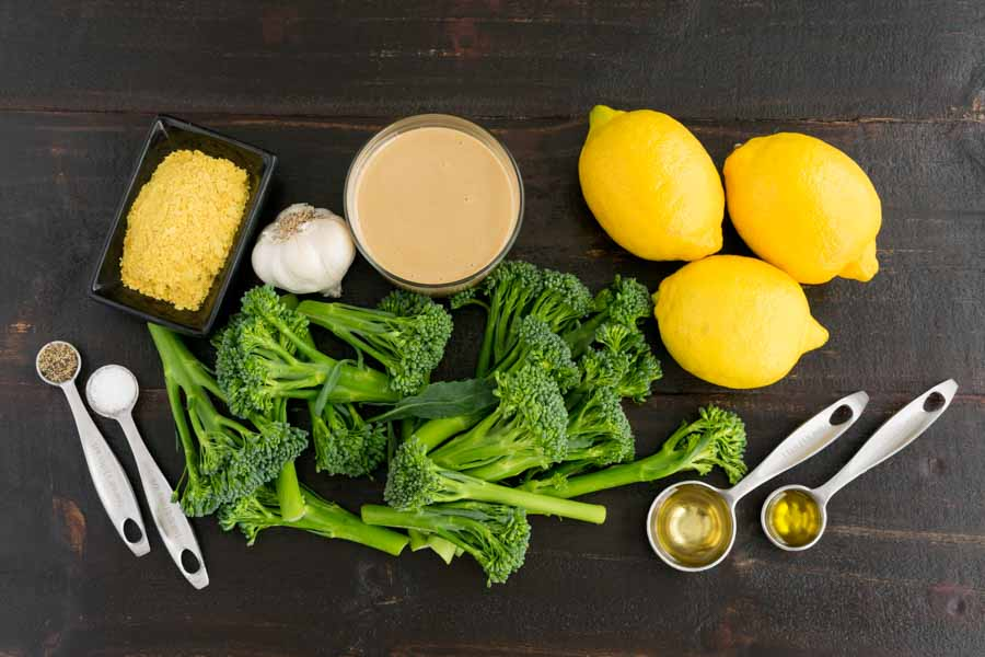 Broccolini with Lemon Tahini Dressing Ingredients