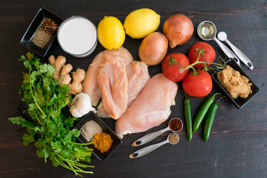 Indian Tomato-Cilantro Chicken Ingredients