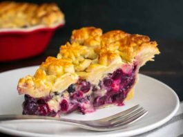 Blueberry Lavender Honey Pie