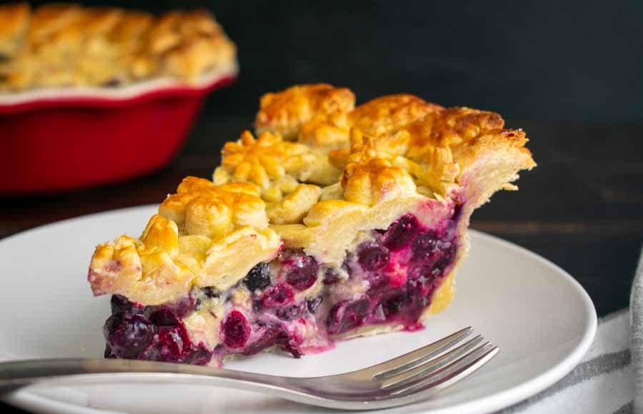Blueberry Lavender Honey Pie