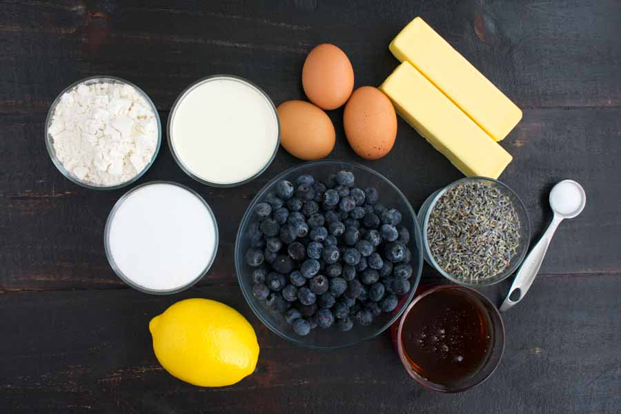 Blueberry Lavender Honey Pie Process Ingredients