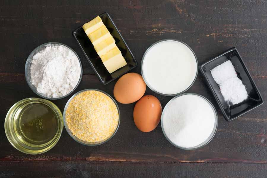 Cast Iron Buttermilk Cornbread Ingredients