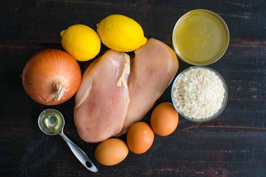 Avgolemono Soup (aka Greek Lemon Chicken Soup) Ingredients