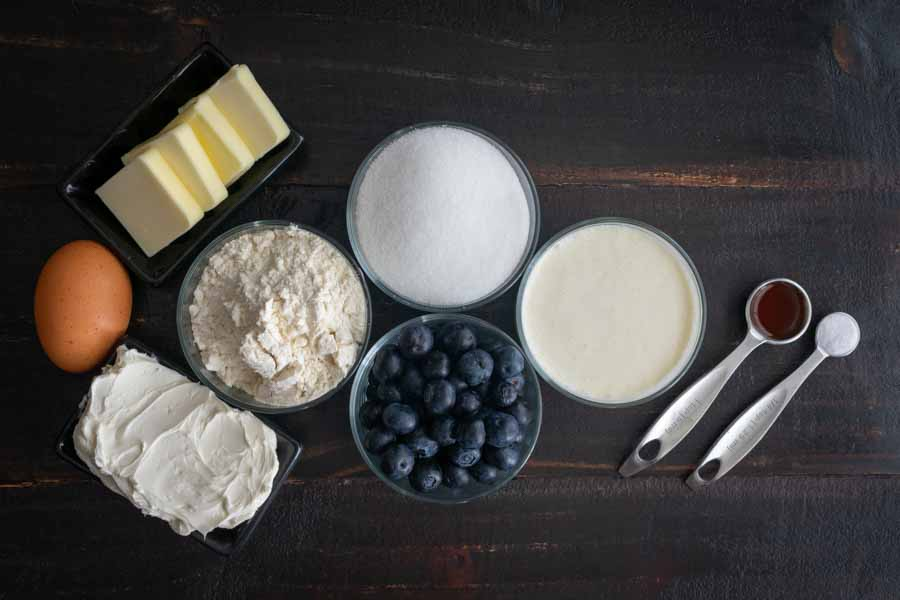 Blueberry Cheesecake Cookie Cups Ingredients