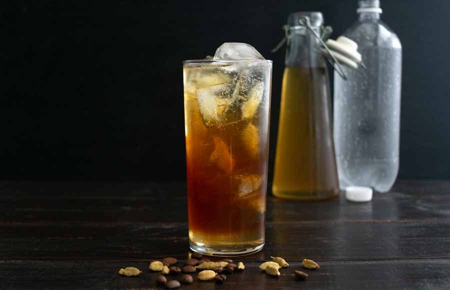 Citrus Cardamom Coffee Spritzer
