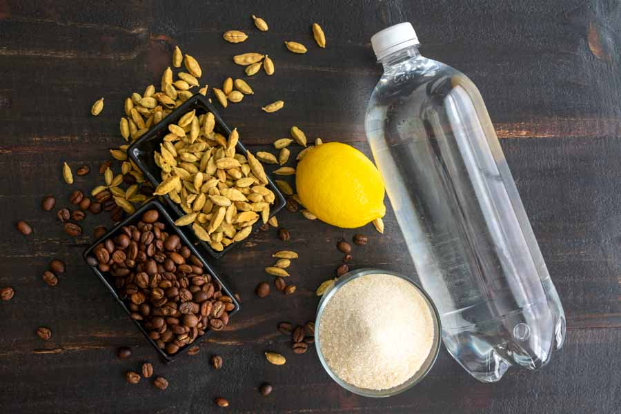 Citrus Cardamom Coffee Spritzer Ingredients