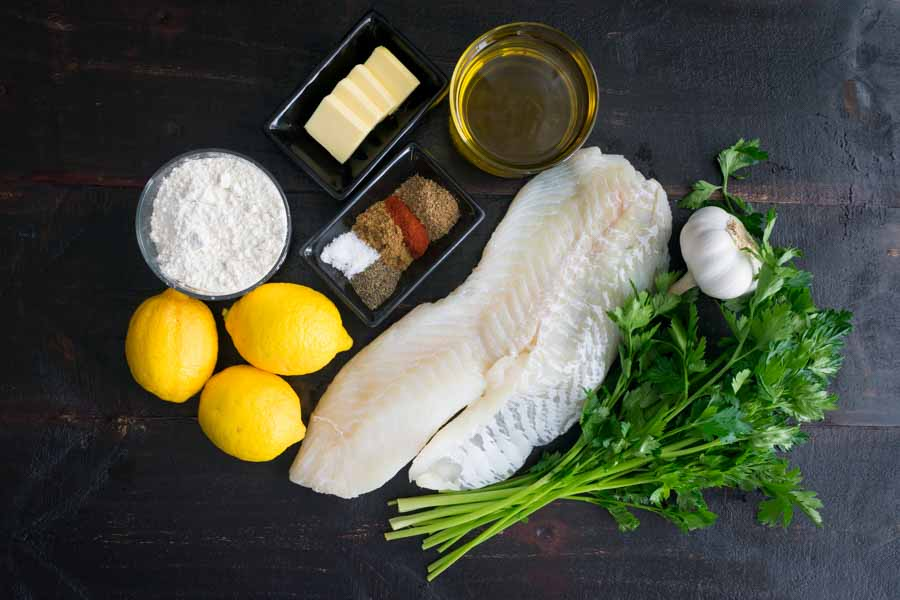 Mediterranean Baked Cod Recipe with Lemon and Garlic Ingredients