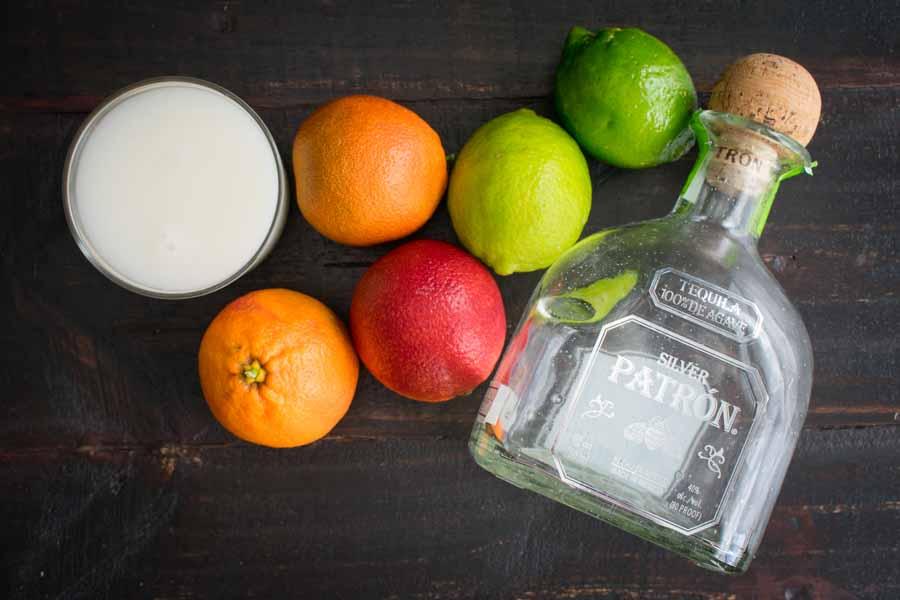 Coconut Blood Orange Margaritas Ingredients