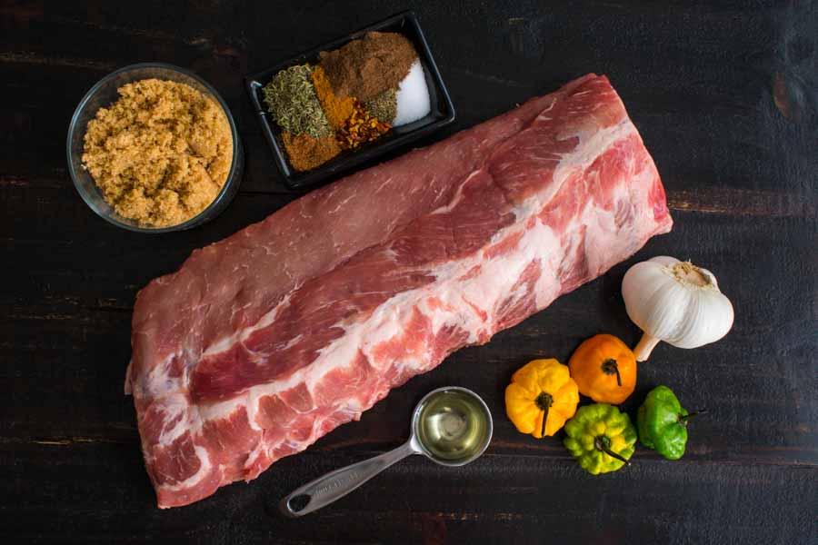Jamaican Jerk Pork Ribs Ingredients
