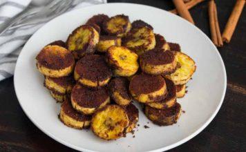 Sweet Caramel Cinnamon Baked Plantains