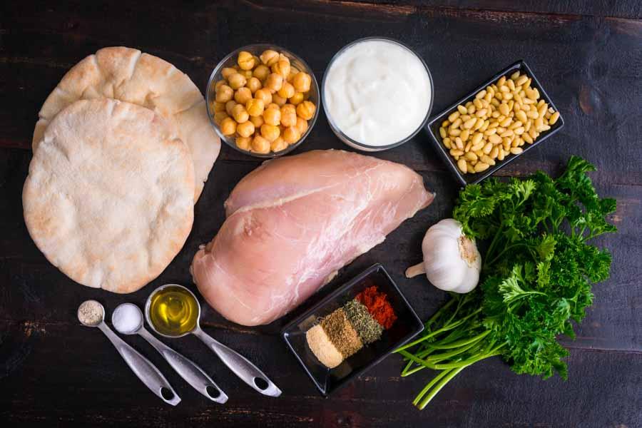 Lebanese Chicken Fatteh Ingredients