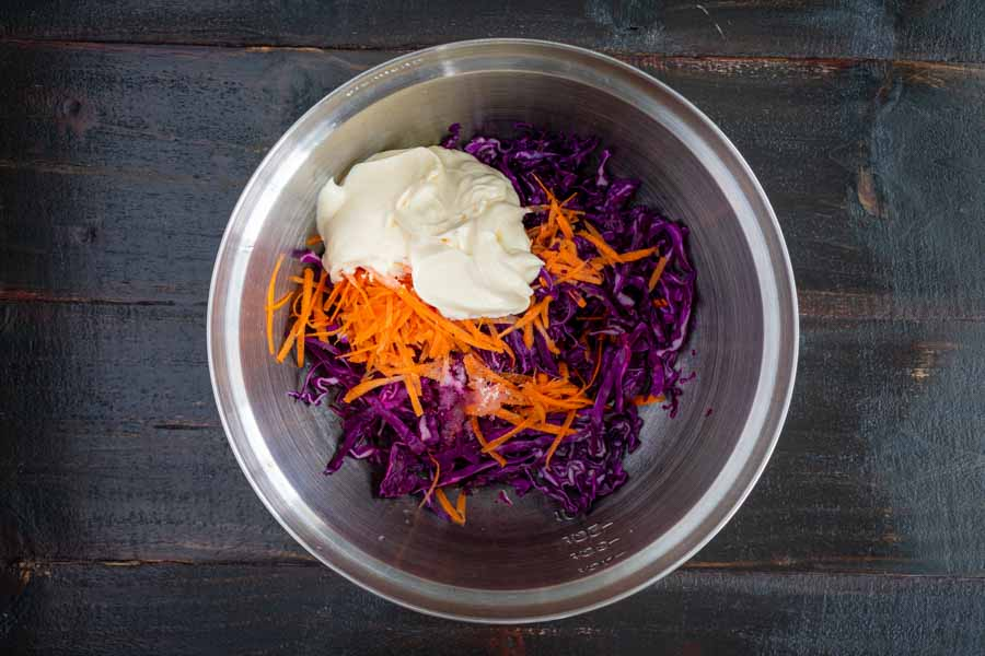 Ingredients for the slaw