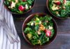 Apple Cranberry Bacon Kale Salad