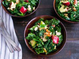 Apple Cranberry Bacon Kale Salad