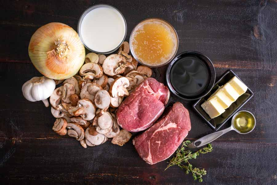 Filet Mignon in Mushroom Sauce Ingredients