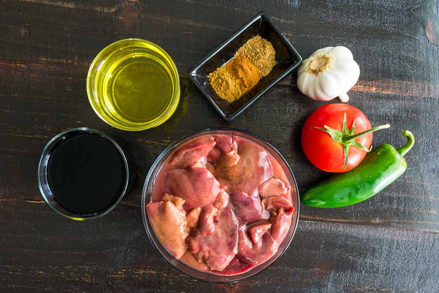 Fried Chicken Livers Ingredients