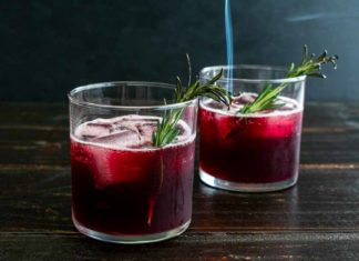 Blackberry Pomegranate Bourbon Cocktail (a.k.a. Smokey Blackberry Bourbon Punch)