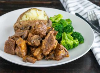 Slow Cooked Steak Diane Casserole