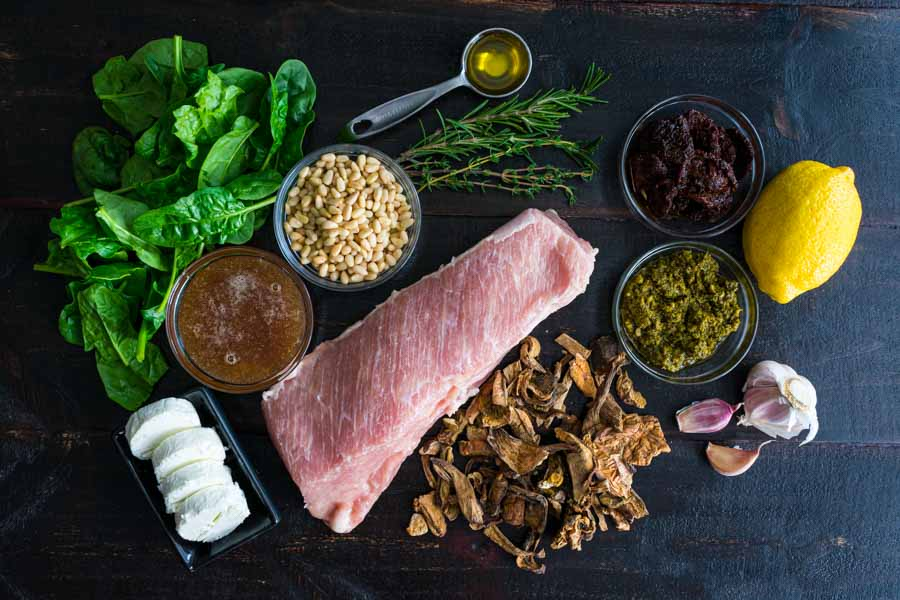 Stuffed Pork Tenderloin Ingredients