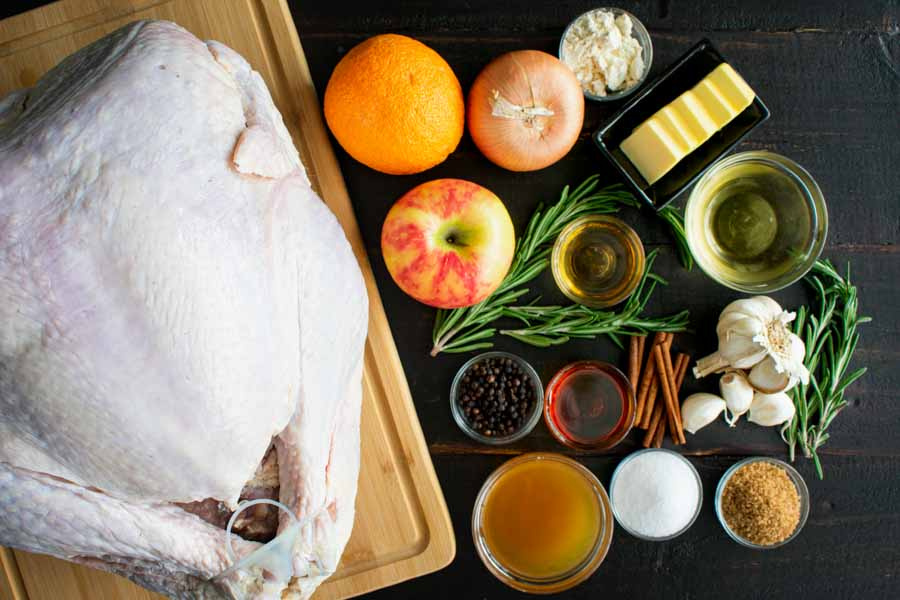 Maple Cider Bourbon Brined Turkey with Bourbon Gravy Ingredients