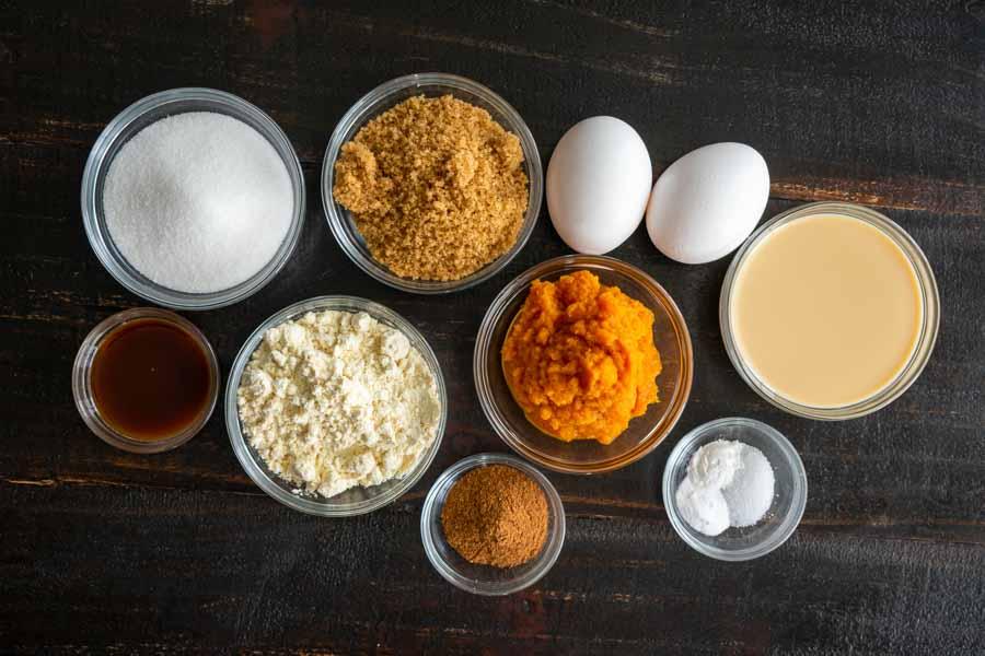 Pumpkin Pie Cupcakes Ingredients