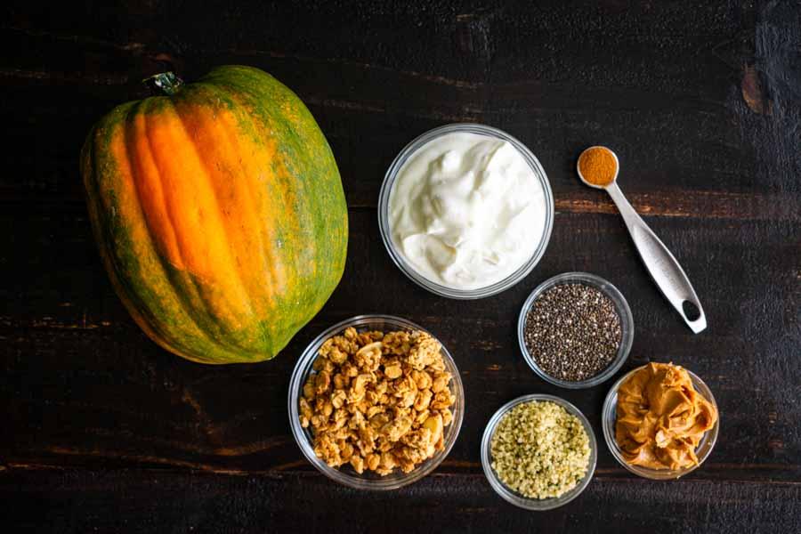 Healthy Acorn Squash Breakfast Bowl Ingredients