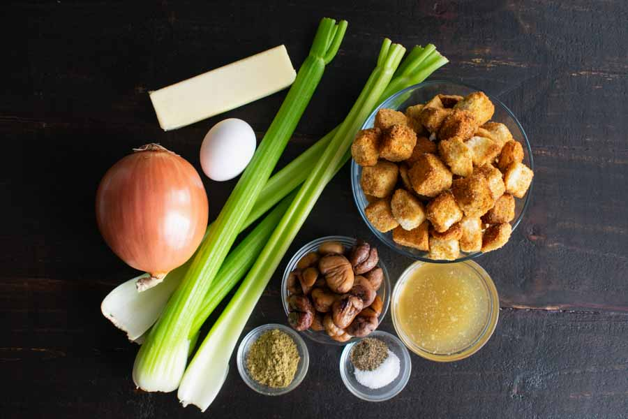 Old-Fashioned Chestnut Stuffing or Dressing Ingredients