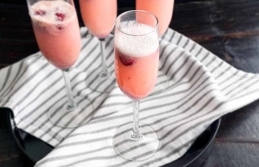 Raspberry Mimosa Cocktail