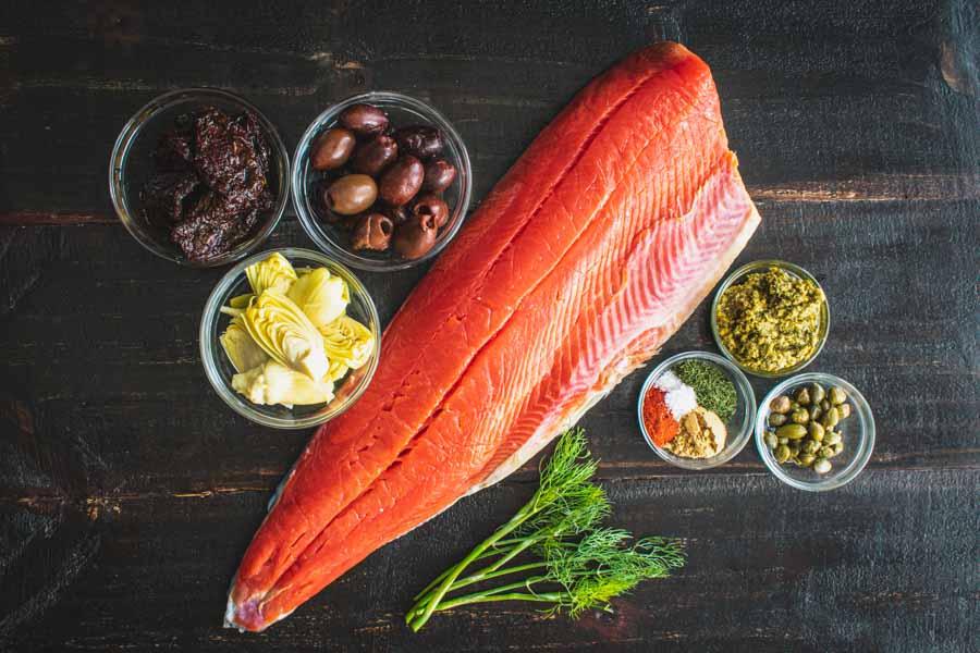 Mediterranean Salmon in Parchment Paper Ingredients