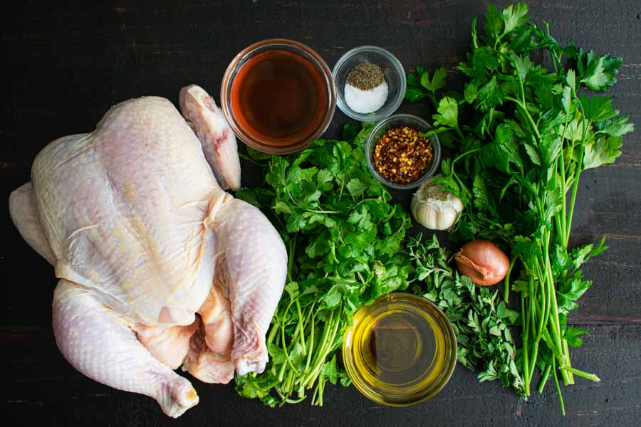 Chimichurri Roasted Chicken Ingredients