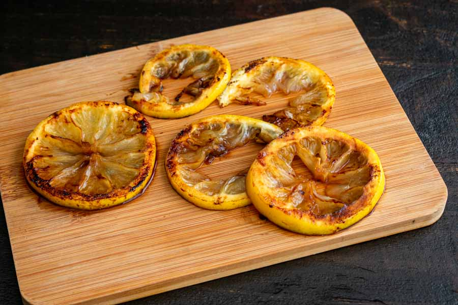 Caramelized lemon slices