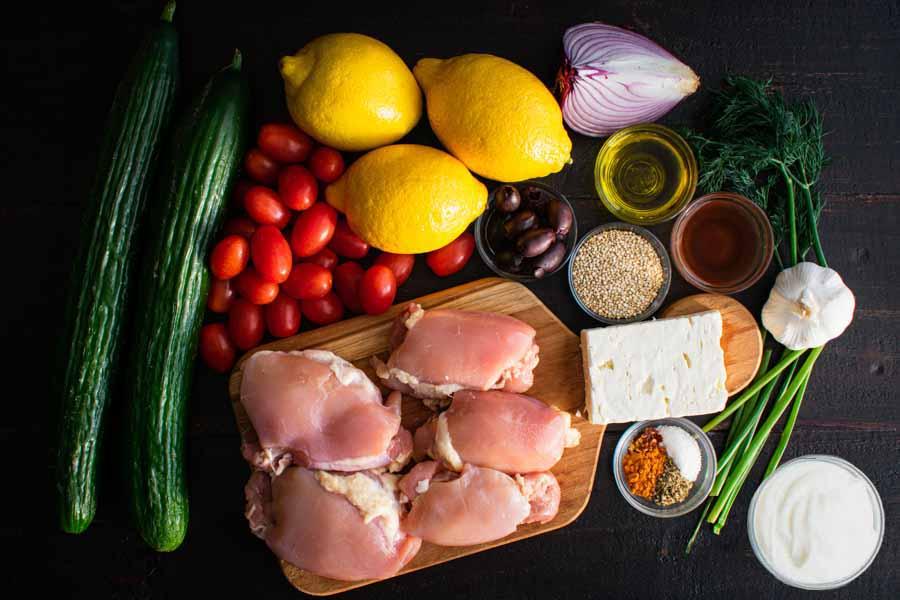 Chicken Tzatziki Bowl Ingredients