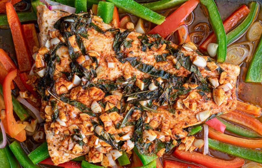Easy Baked Fish with Garlic and Basil