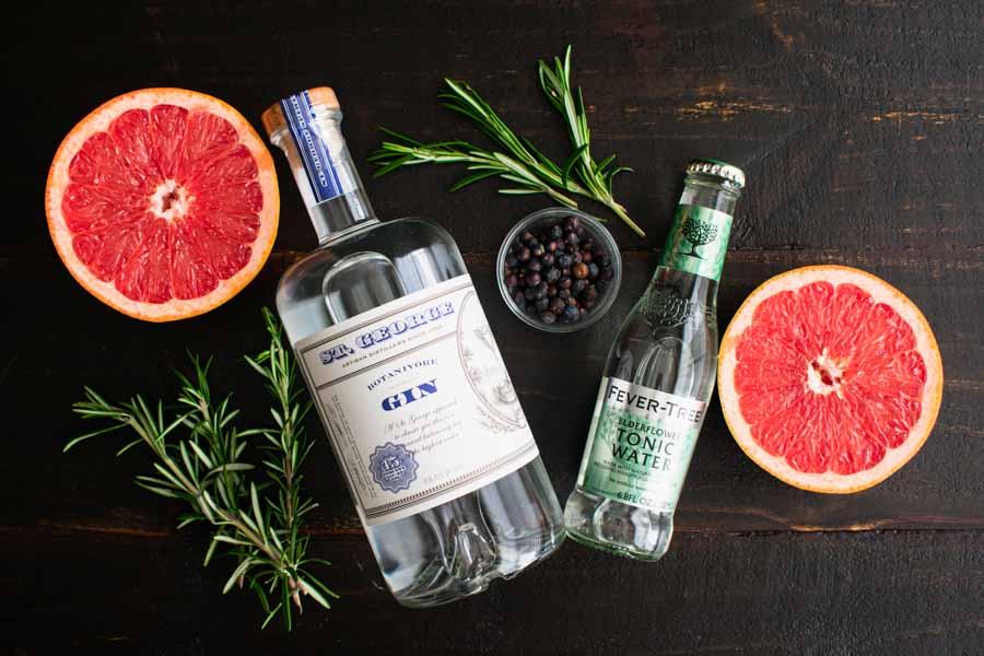 Elderflower Spanish Gin and Tonics Ingredients