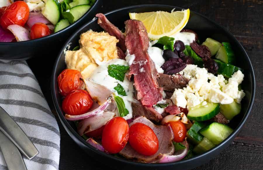Mediterranean Steak Bowls