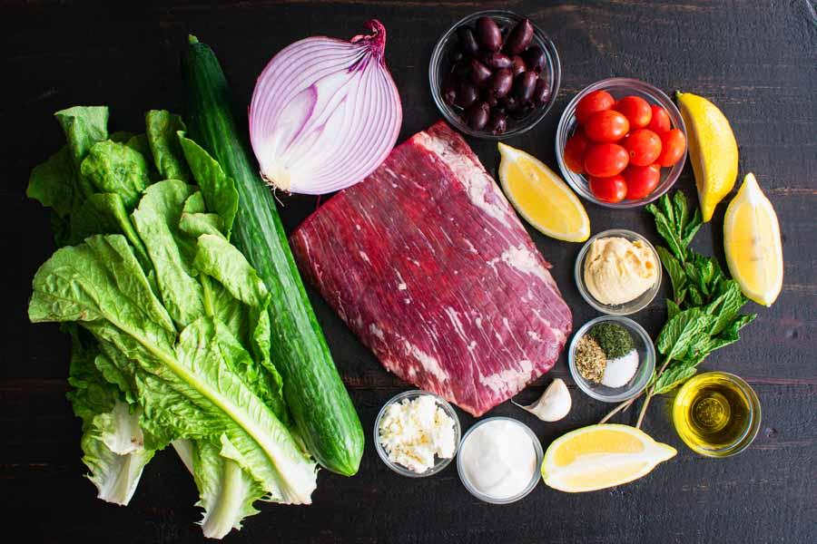 Mediterranean Steak Bowls Ingredients