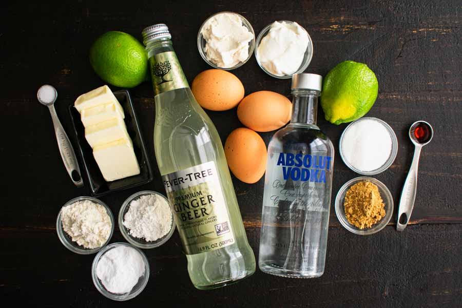 Moscow Mule Cupcakes Ingredients