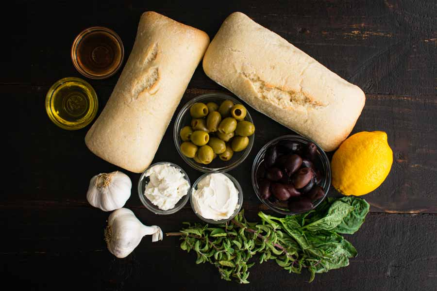 Herbed Olive Tapenade With Goat Cheese Bruschetta Ingredients
