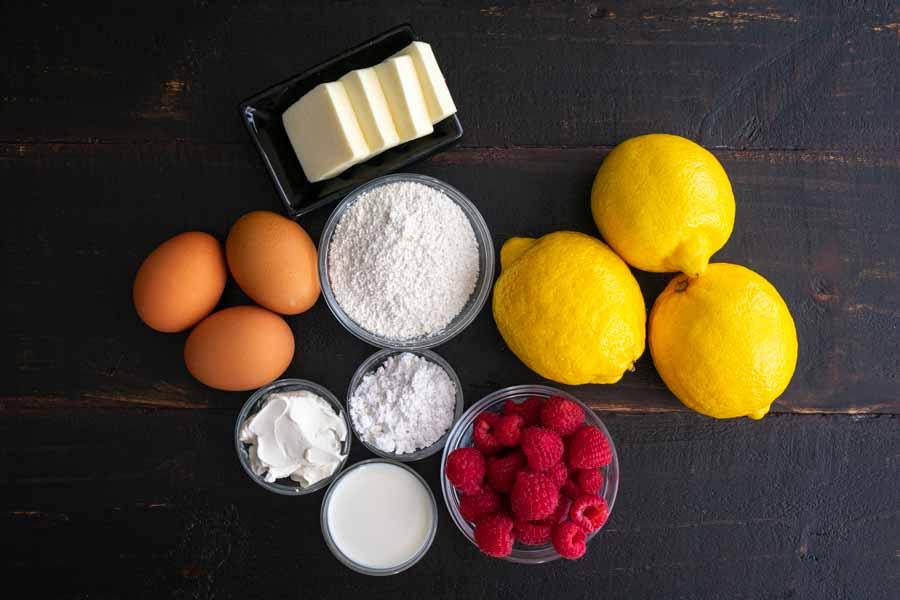Lemon Cupcakes with Lemon Raspberry Buttercream Ingredients