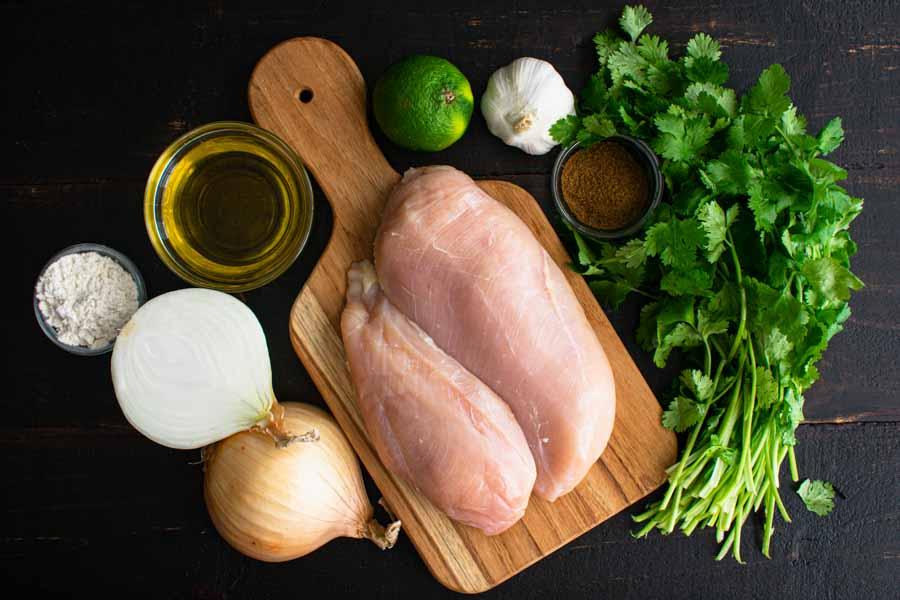 Cuban Chicken with Onions (Pechuga a la Plancha) Ingredients