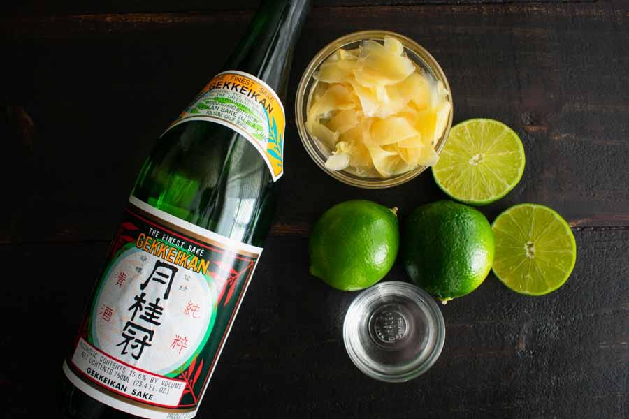 For Goodness Saké – A Saké and Ginger Cocktail Ingredients