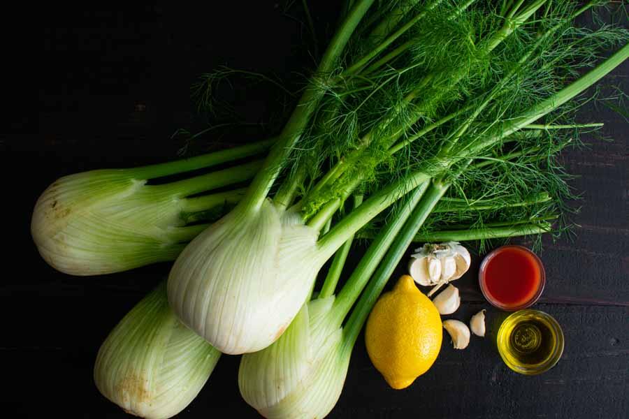 Sautéed Fennel with Garlic Ingredients