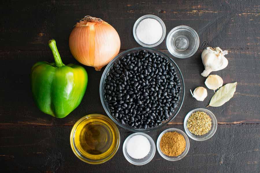 Slow Cooker Cuban Black Beans (Frijoles Negros) Ingredients