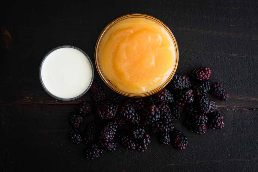 Lemon Mousse with Blackberries Ingredients